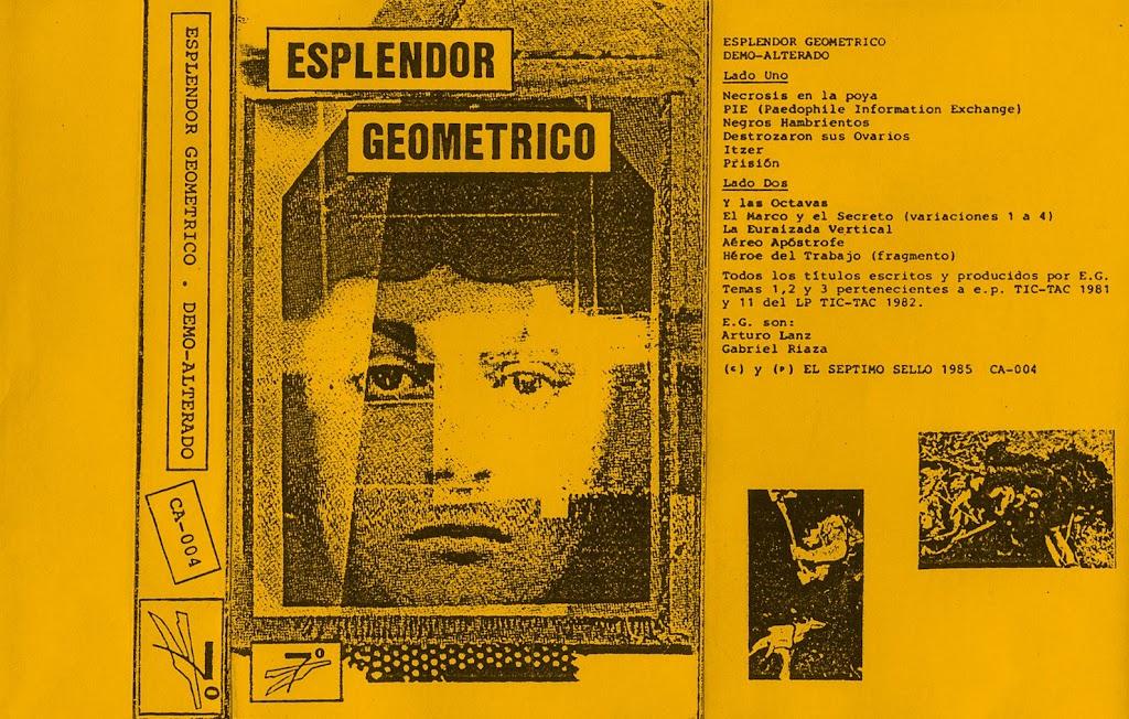 ESPLENDOR GEOMETRICO – DEMO-ALTERADO (EL SÉPTIMO SELLO – CA004, CASSETTE C-60, COMPILATION, 1986) (FLAC)