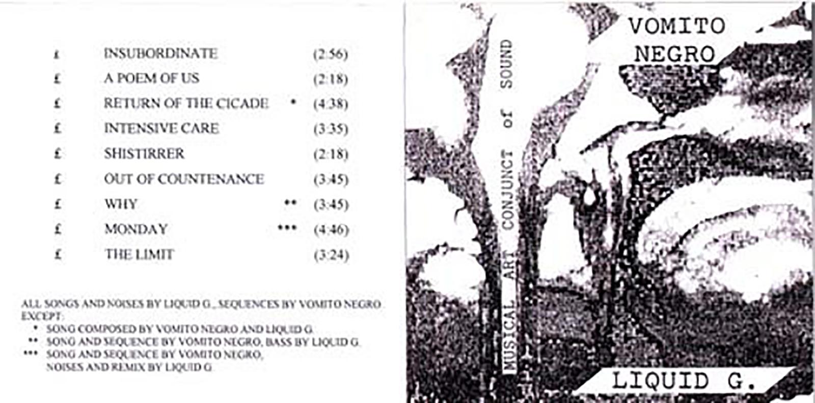 Vomito Negro & Liquid G. – M.A.C.S. (ZNS TAPES, CASSETTE C-35, 1989) (MP3 192)