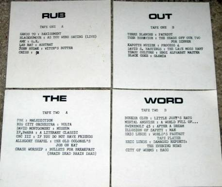 Various ‎– Rub Out The Word (2 × Cassette, Compilation, Limited Edition, Numbered, C60) (WAV)